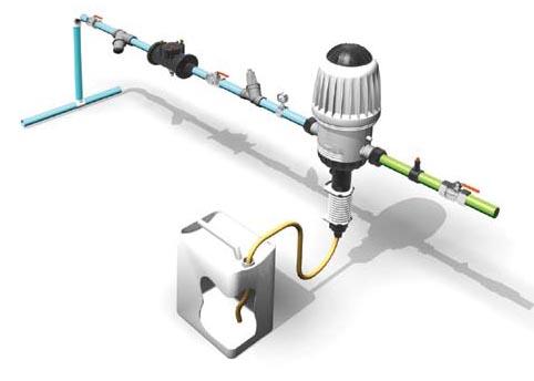 Дозирующий насос и схема его подключения. обычно производится из...  Дозатрон может монтироваться непосредственно в...