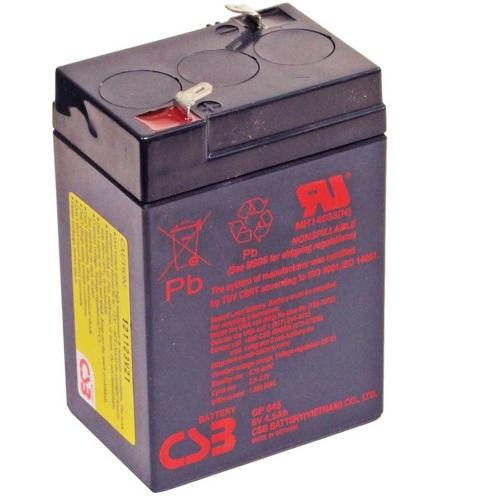 Аккумулятор герметичный CSB 6В 4.5Ач (GP 645)