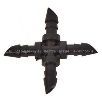Штуцер крестовой для трубки 4x6мм (CC0314)