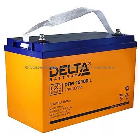 Аккумулятор DELTA 12В 100Ач (DTM 12100 L)