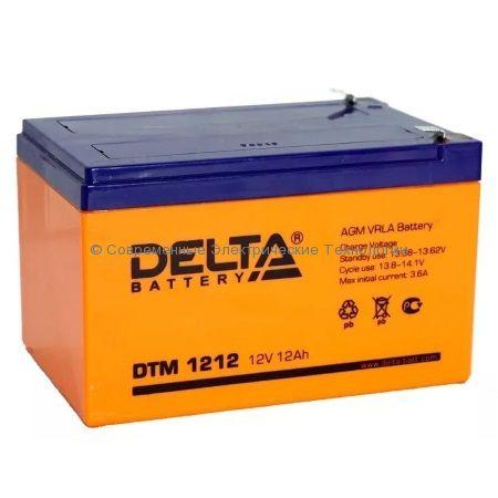 Аккумуляторная батарея DELTA 12В 12Ач (DTM 1212)
