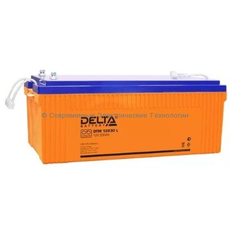 Аккумулятор DELTA 12В 230Ач (DTM 12230 L)