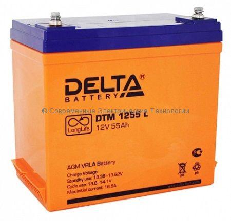 Аккумулятор DELTA 12В 55Ач DTM 1255 L