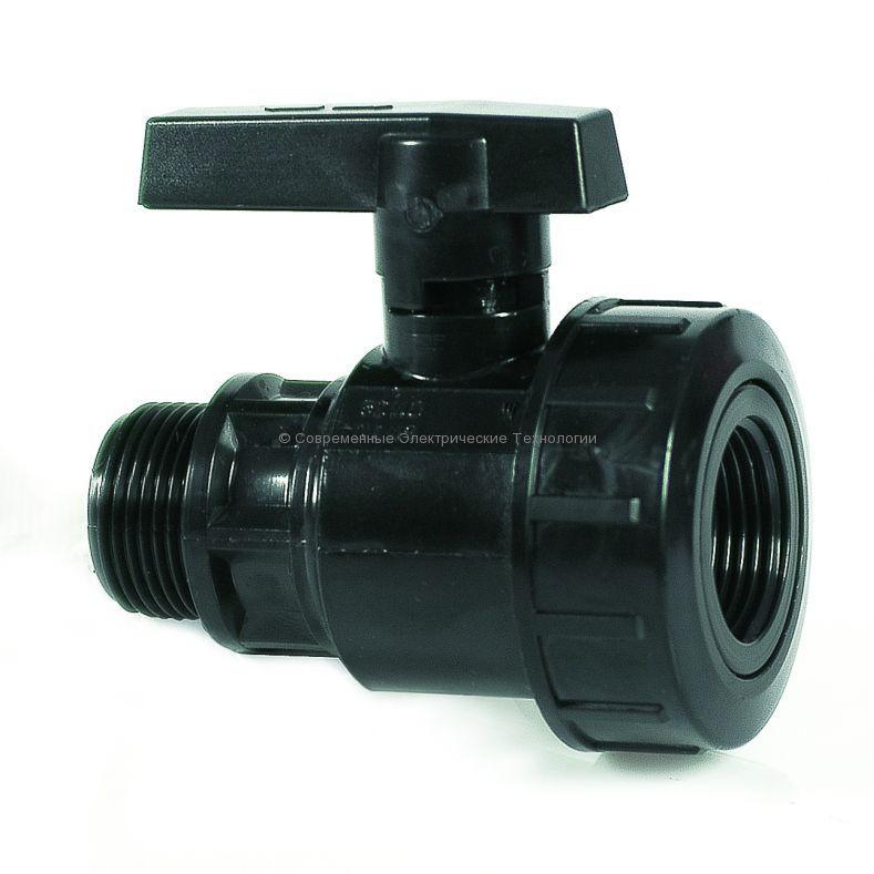 Кран пластиковый шаровый 1-1/4x1-1/4 ВРxНР Irritec
