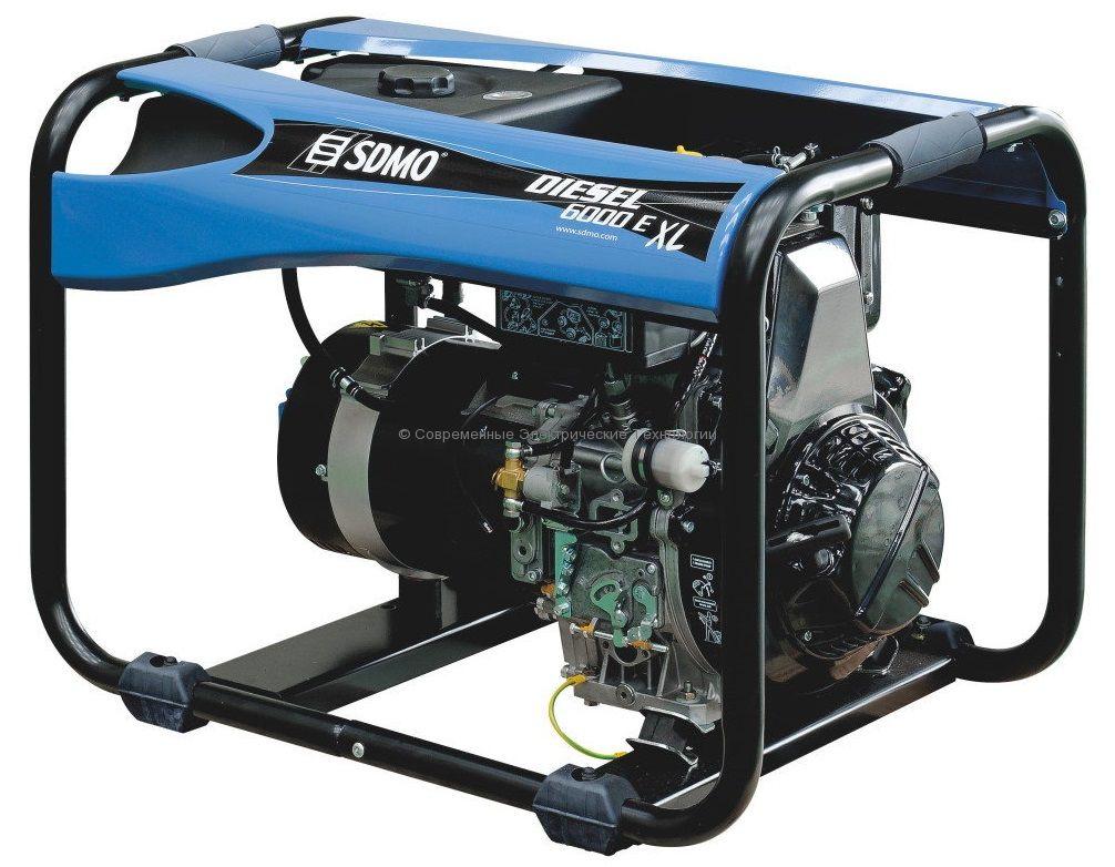 Генератор дизельный 5.2кВт SDMO Diesel 6000 EXLC