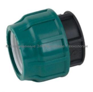 Компрессионная заглушка ПЭ 25 pn10