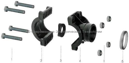 Седелка-переход для пластиковой трубы 25мм 25x1/2