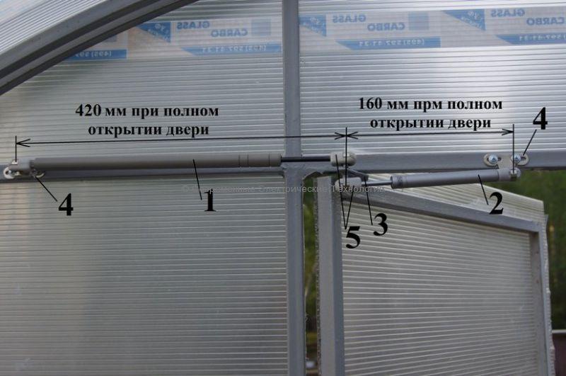 """Автомат для проветривания теплицы """"Термопривод-ДВ"""""""