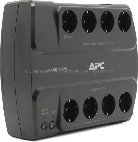 Источник бесперебойного питания APC Back-UPS Power-Saving ES 8 Outlet 550VA 230V BE550G-RS