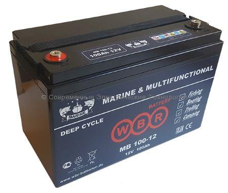Аккумулятор тяговый герметичный 12В 100Ач (MB 100-12 WBR)