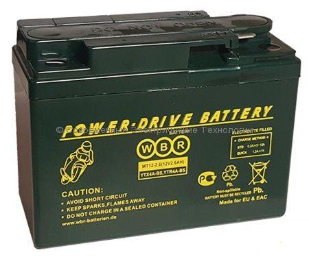 Аккумуляторная батарея стартерная WBR 12В 2.6Ач (MT 12-2.6)
