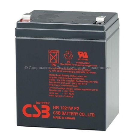 Аккумулятор герметичный CSB 12В 5Ач (HR 1221 W F2)