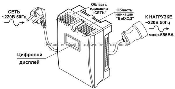 Cтабилизатор напряжения 1-фазный 888ВА Teplocom (ST-888-И)