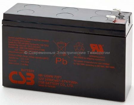 Аккумулятор герметичный CSB 12В 6Ач (HR 1224 W F2)