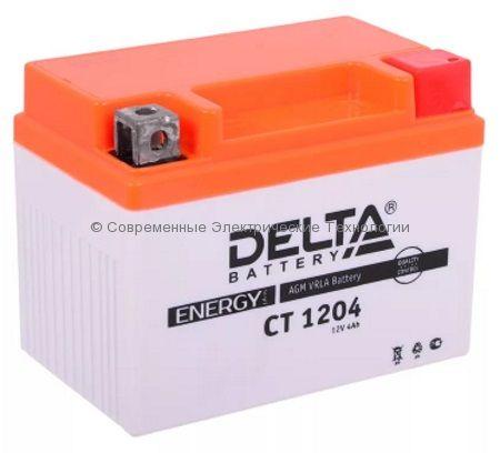 Аккумуляторная батарея стартерная DELTA 12В 4Ач (CT 1204)