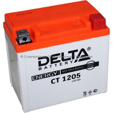 Аккумуляторная батарея стартерная DELTA 12В 5Ач (CT 1205)