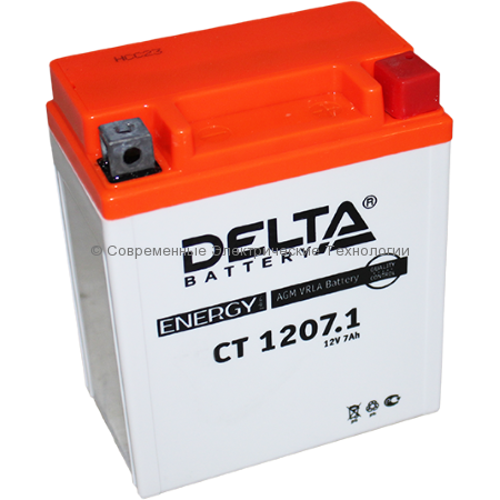 Аккумуляторная батарея стартерная DELTA 12В 7Ач (CT 1207.1)