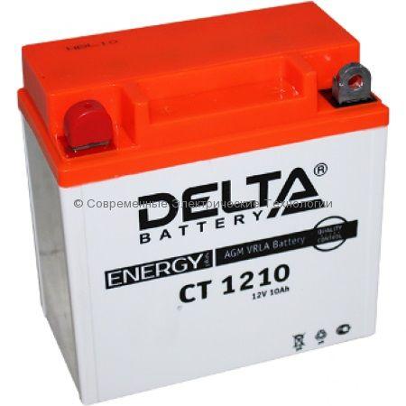 Аккумуляторная батарея стартерная DELTA 12В 10Ач (CT 1210)