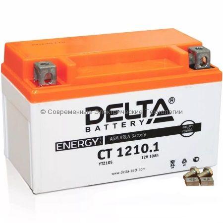 Аккумуляторная батарея стартерная DELTA 12В 10Ач (CT 1210.1) YTZ10S
