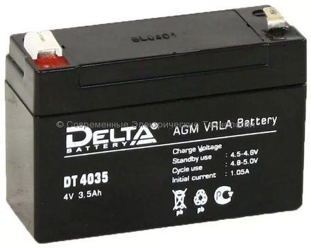 Аккумуляторная батарея DELTA 4В 3.5Ач (DT 4035)