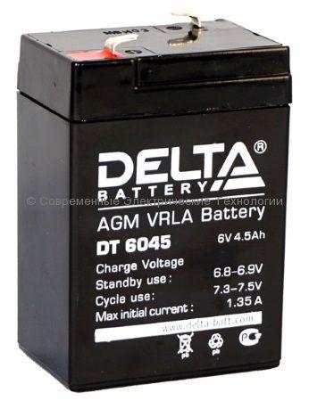 Аккумуляторная батарея DELTA 6В 4.5Ач (DT 6045)