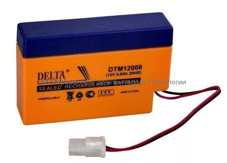 Аккумуляторная батарея DELTA 12В 0.8Ач (DTM 12008)