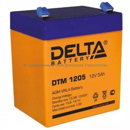 Аккумуляторная батарея DELTA 12В 5Ач (DTM 1205)