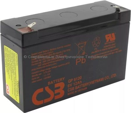 Аккумулятор герметичный CSB 6В 12Ач (GP 6120)