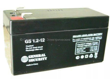 Аккумулятор General Security GS 12В 1.2Ач (GS 1.2-12)