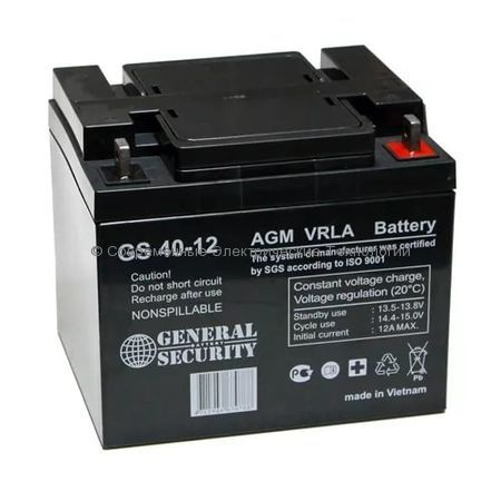 Аккумулятор General Security GS 12В 40Ач (GS 40-12)