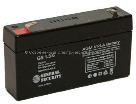 Аккумулятор General Security GS 6В 1.3Ач (GS 1.3-6)