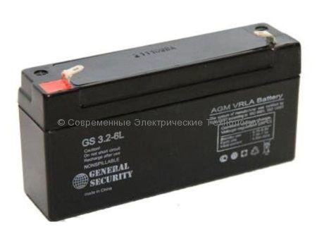 Аккумулятор General Security GS 6В 3.2Ач (GS 3.2-6)