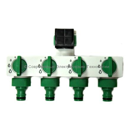 Разветвитель на 4 выхода для садового шланга (HC0404)