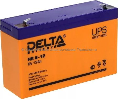 Аккумулятор DELTA 6В 12Ач (HR 6-12)