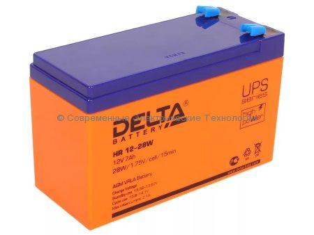 Аккумулятор DELTA 12В 7Ач (HR 12-28W)