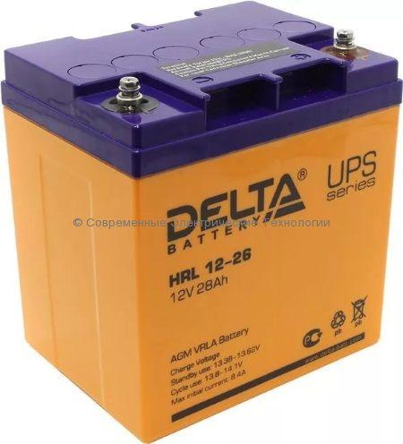 Аккумулятор DELTA 12В 26Ач (HRL 12-26)