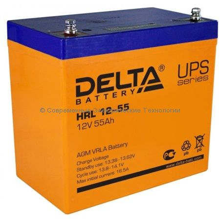 Аккумулятор DELTA 12В 55Ач (HRL 12-55)
