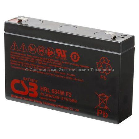 Аккумулятор герметичный CSB 6В 8.5Ач (HRL 634W)