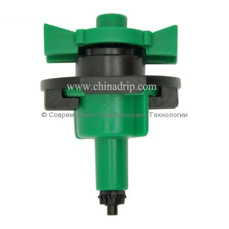 Микроспринклер 34л/час радиус 3.2м зелёный (MS8130)