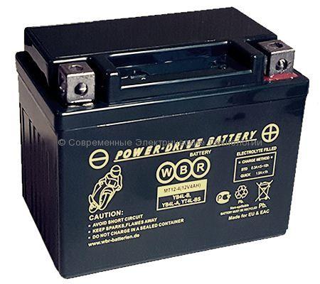 Аккумуляторная батарея стартерная гелевая WBR GEL 12В 4Ач (MTG 12-4)