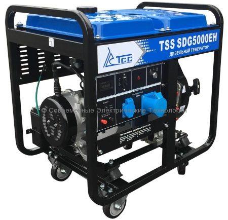 Дизельный генератор ТСС 5кВА/5кВт (TSS SDG 5000EH)