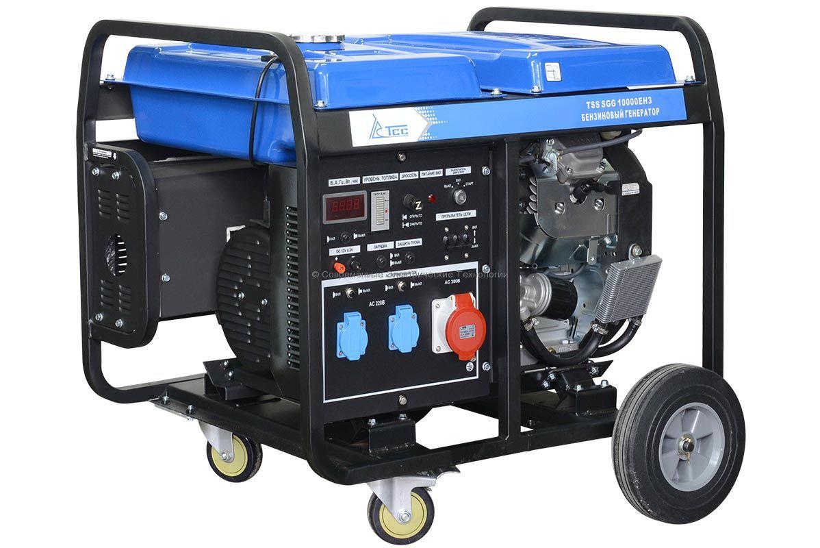 Бензиновый генератор ТСС 12.5кВА/10кВт (TSS SGG 10000 EН3) 380В