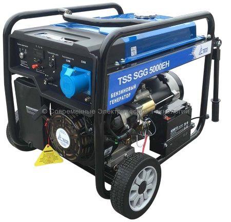 Бензиновый генератор ТСС 5кВА/5кВт (TSS SGG 5000 EH)