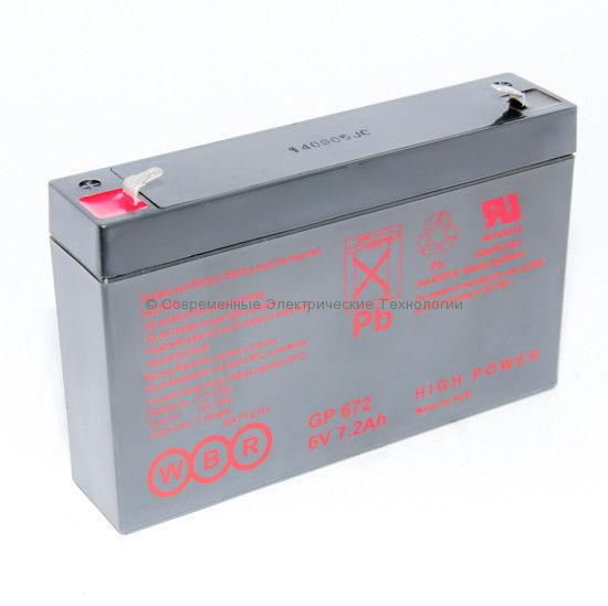 Аккумуляторная батарея 6В 7Ач (GP 672 WBR)