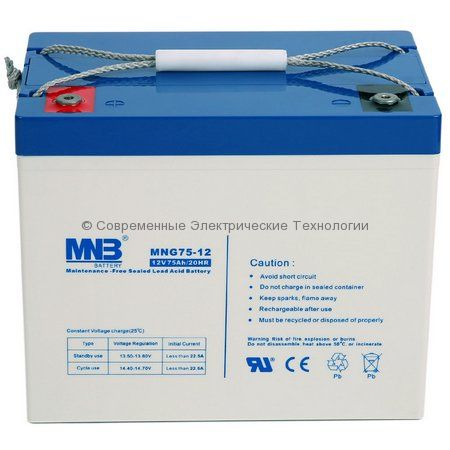 Аккумулятор гелевый MNB 12В 75Ач (MNG75-12)