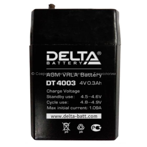 Аккумуляторная батарея DELTA 4В 0.3Ач (DT 4003)