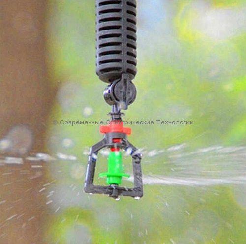 Подвесной миниспринклер 28л/час радиус 3.5м зелёный (MS1101A)