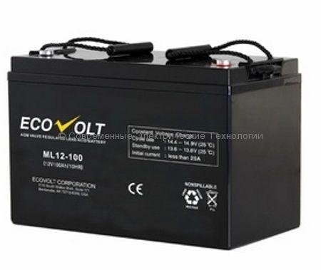 Аккумулятор ECOVOLT 12В 100Ач ML12-100