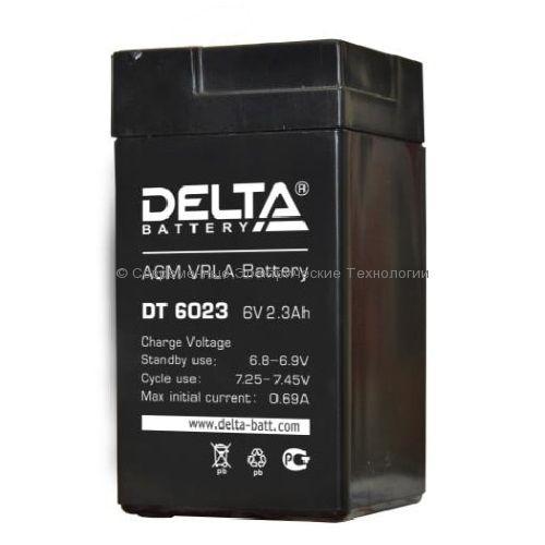 Аккумуляторная батарея DELTA 6В 2.3Ач DT 6023 (75)