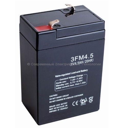 Аккумуляторная батарея 3-FM-4.5 (3FM4.5) 20Hr 6В 4.5Ач